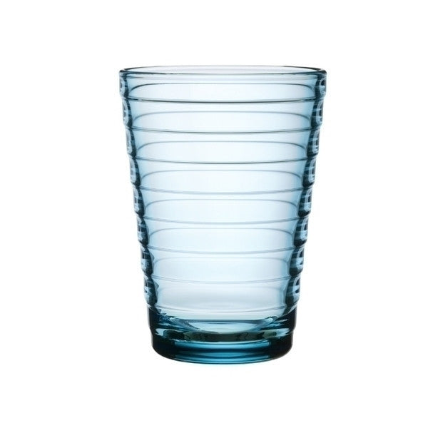 Iittala Aino Aalto Light Blue Large Glass Tumbler Pair 33cl