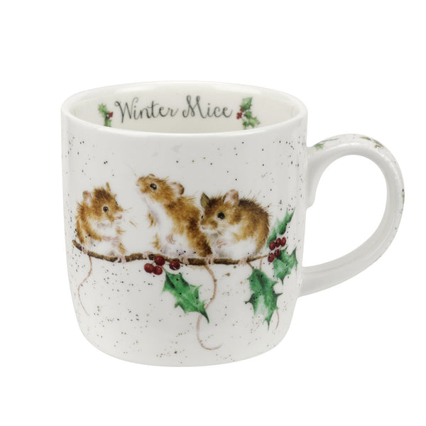 Royal Worcester Wrendale Designs Winter Mice Mug 0.31L