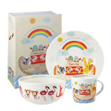Churchill China Noahs Ark 3 Piece Breakfast Set