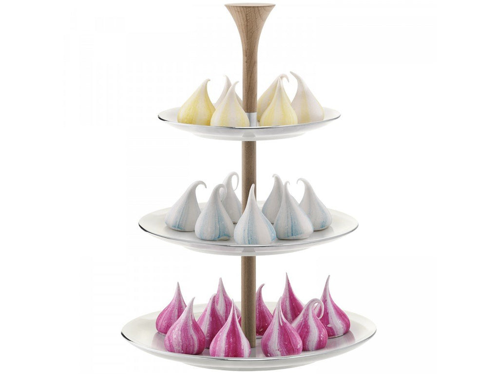 LSA Polka Pearl Tiered Cakestand H37cm
