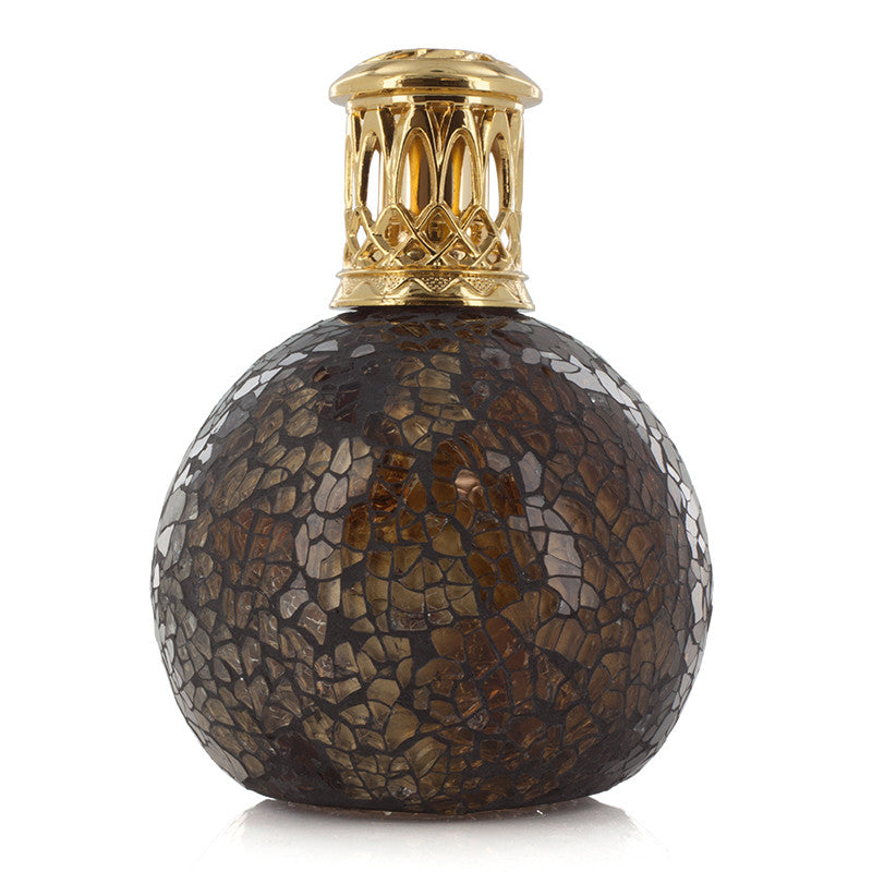 Ashleigh and Burwood Mahogany Ball Small Mosaic Fragrance Lamp