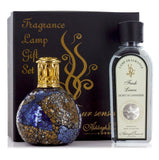 Ashleigh and Burwood Small Masquerade with Fresh Linen Fragrance Lamp Gift Set