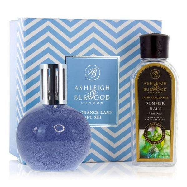 Ashleigh & Burwood: Fragrance Lamp Gift Set - Blue Speckle & Summer Rain