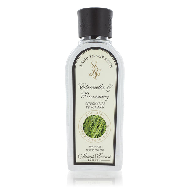 Ashleigh and Burwood Citronella and Rosemary Lamp Fragrance 0.50L