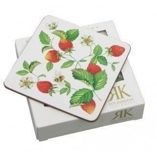Roy Kirkham Alpine Strawberry Pack of 6 Coasters 10.5cm