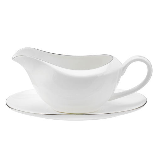 Royal Worcester Serendipity Platinum Sauce Boat and Stand 0.34L