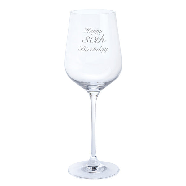 Dartington Crystal Just For You Happy 30th Birthday Wine Glass 0.45L (Single)