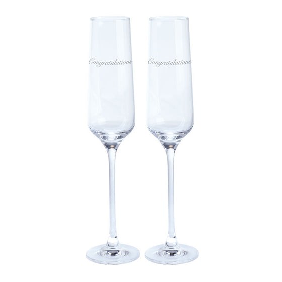 Dartington Crystal Just For You Congratulations Champagne Flute 0.19L (Pair)