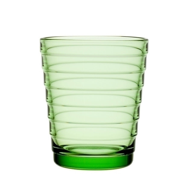 Iittala Aino Aalto Apple Green Glass Tumbler Pair 22cl