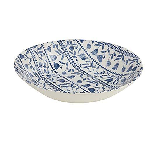 Churchill China Tilly Blue Open Rows Scollop Pasta Bowl 22cm (Set Of 6)