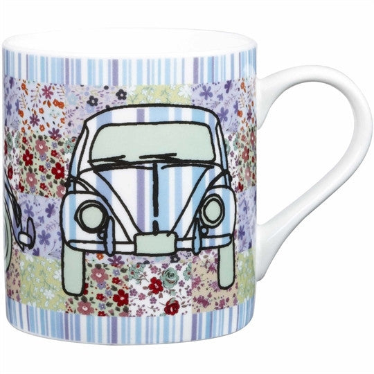 Churchill China Caravan Trail Blue Flower Power Mug 340ml