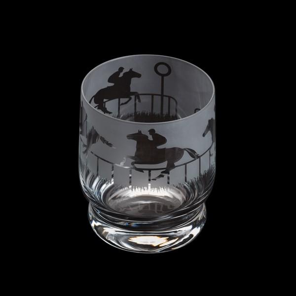 Dartington Crystal Aspect Horse Racing Tumbler 10cm /0.35L