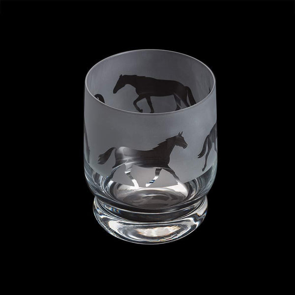 Dartington Crystal Aspect Horse Tumbler 10cm /0.35L