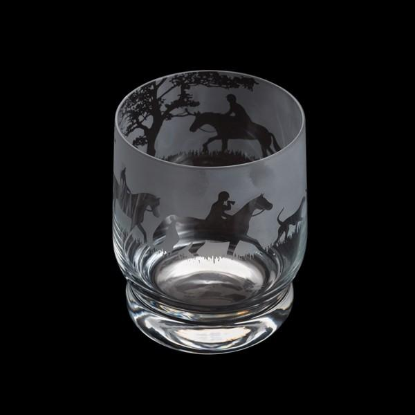 Dartington Crystal Aspect Hunting Scene Tumbler 10cm /0.35L