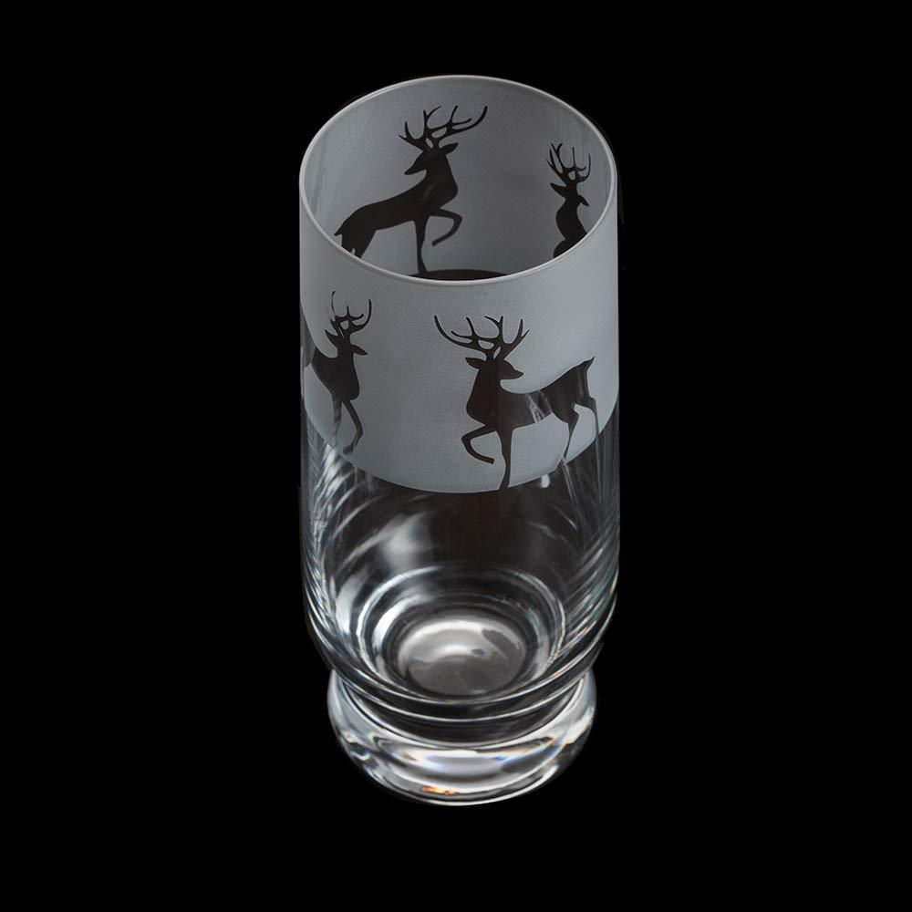 Dartington Crystal Aspect Reindeer Highball 16cm /0.38L