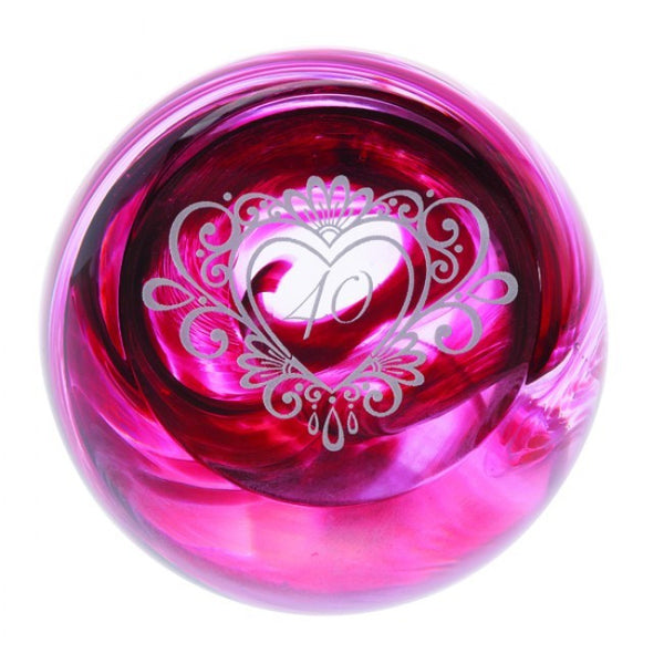 Caithness Glass Celebration 40 Paperweight