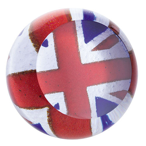 Caithness Glass Abstract Union Flag Paperweight