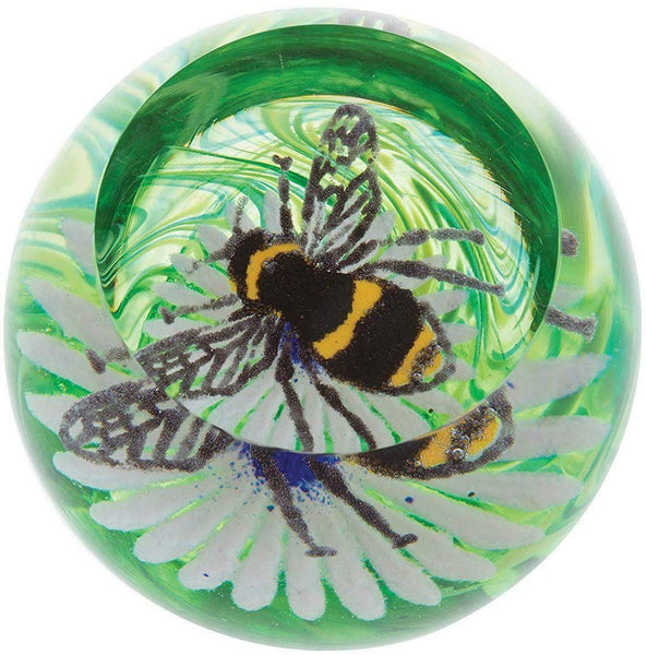 Caithness Glass Busy Bees Bee On A Flower Paperweight