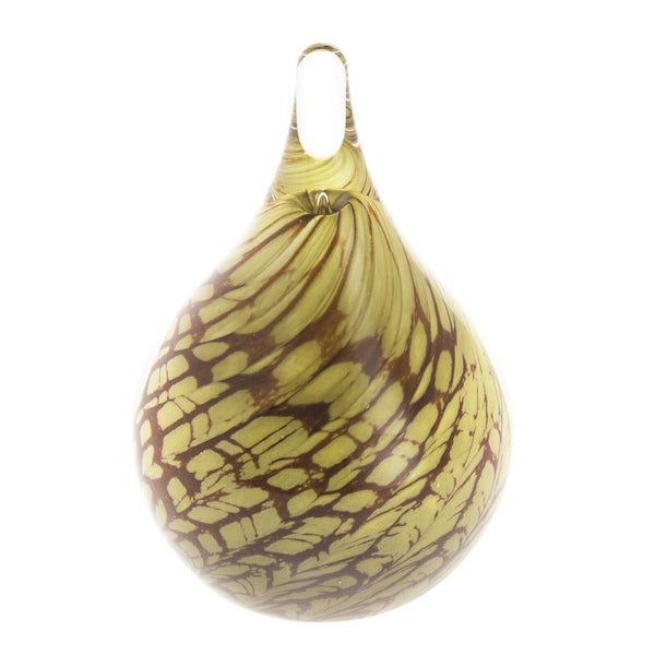 Caithness Glass Scottish Moss Teardrop Paperweight