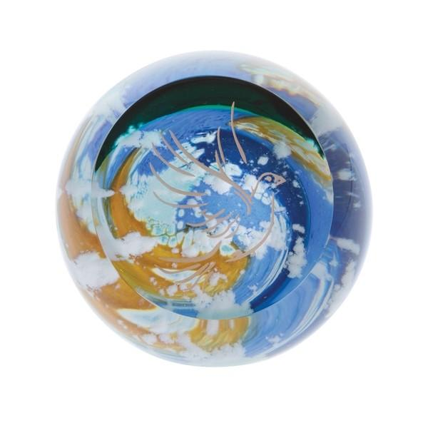 Caithness Glass Faith Heavenly Skies Dove Paperweight