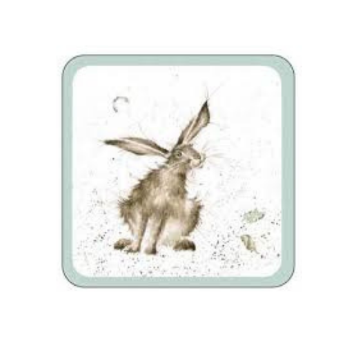 Royal Worcester Wrendale Hare Coaster 10.5cm By 10.5cm (Set Of 8)