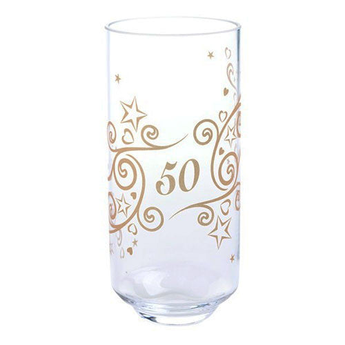 Dartington Crystal  Celebrate 50 Years Vase 19cm