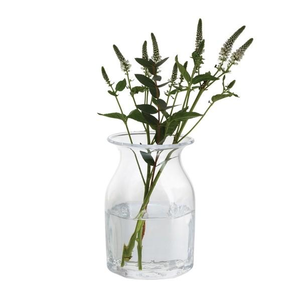 Dartington Crystal Finbarr Hexagonal Clear Vase 16cm
