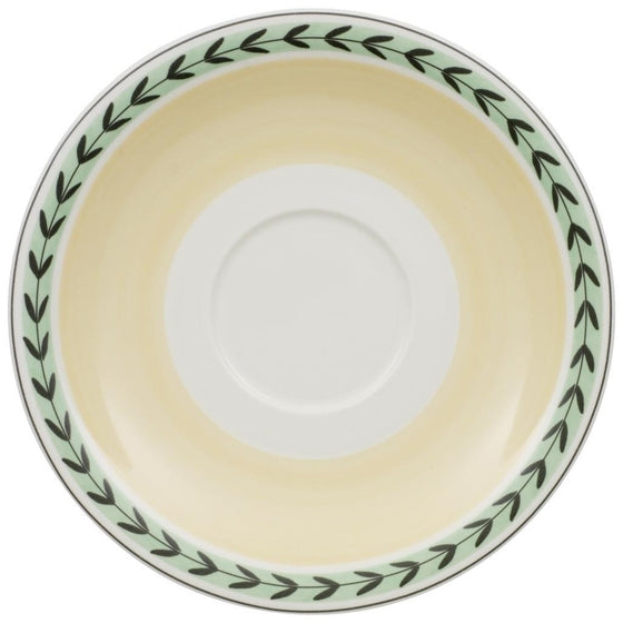 Charm and Breakfast French Garden White Coffee Saucer 20cm (Saucer Only)