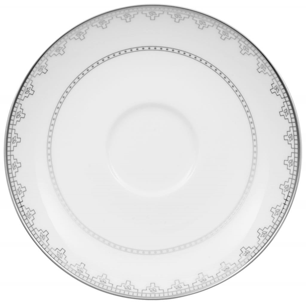 Villeroy and Boch White Lace Coffee Saucer 15cm (Saucer Only)