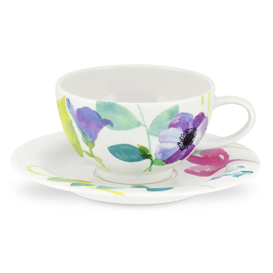 Portmeirion Water Garden Breakfast Cup and Saucer 0.3L (Set of 4)