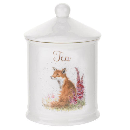 Royal Worcester Wrendale Designs Fox Tea Canister 14.5cm