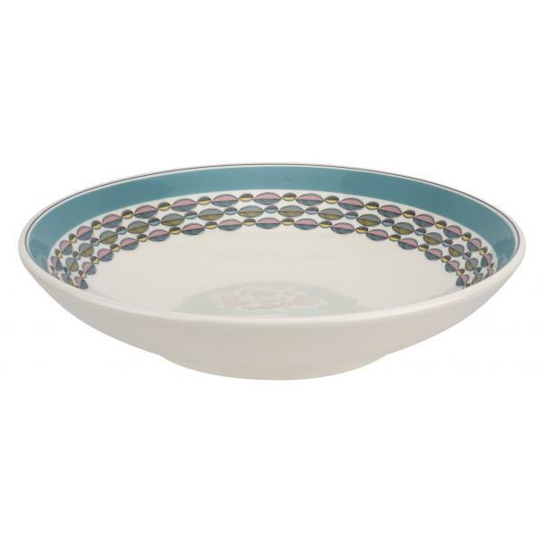 "Portmeirion Westerly Turquoise Low Bowl Pasta 8.5""/ 22cm"