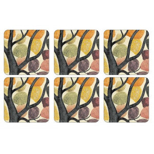 Pimpernel Dancing Branches Coasters 10.5cm By 10.5cm (Set Of 6)