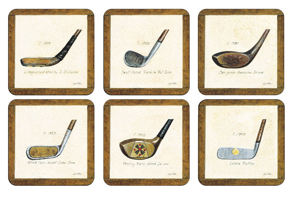 Pimpernel A History of Golf Coasters 10.5cm (Set of 6)