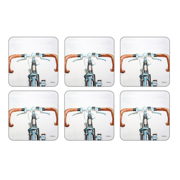 Pimpernel Bicycle Coasters 10.5 by 10.5cm (Set of 6)
