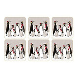Portmeirion Sara Miller Christmas Penguin Coasters 10.5 By 10.5cm (Set Of 6)