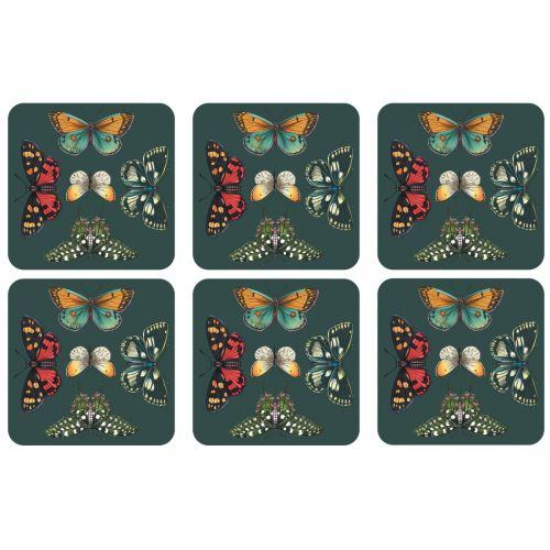 Pimpernel Botanic Garden Harmony Coasters 10.5 by 10.5cm (Set of 6)