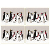 Portmeirion Sara Miller Christmas Penguin Placemat 30.5 By 23cm (Set Of 4)