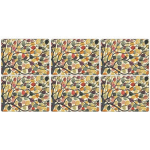 Pimpernel Dancing Branches Placemats 30.5cm By 23cm (Set Of 6)