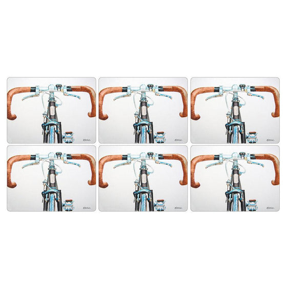 Pimpernel Bicycle Placemats 30.5 by 23cm (Set of 6)