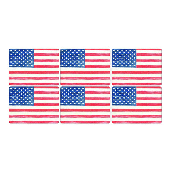 Pimpernel American Flag Placemats 30.5 by 23cm (Set of 6)