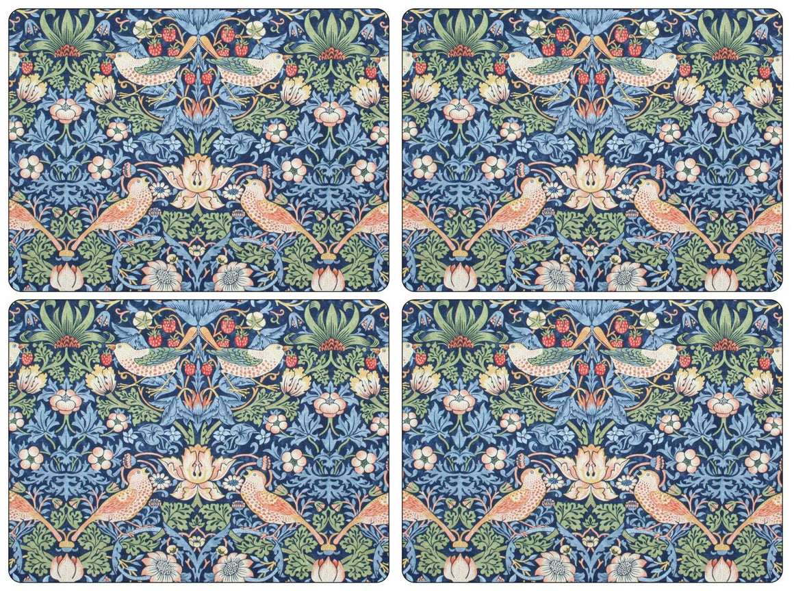Pimpernel Strawberry Thief Blue Placemats 40cm by 30cm (Set of 4)
