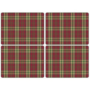 Pimpernel Tartan Placemats Red 40.1cm By 29.8cm (Set Of 4)
