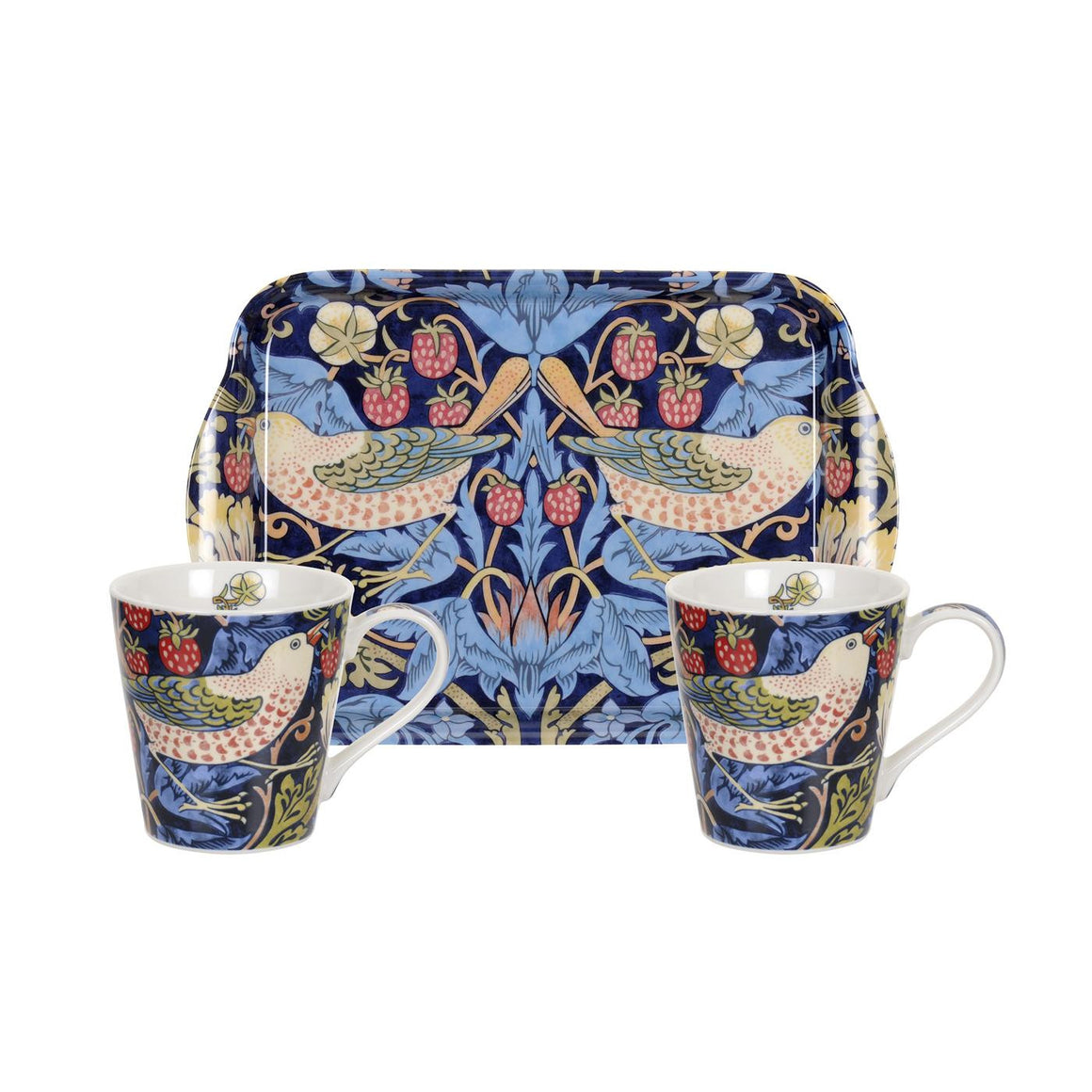 Pimpernel Strawberry Thief Blue Mug and Tray Set