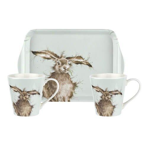 Royal Worcester Wrendale (Hare 0.18L Mug, 21 By 14cm Tray)