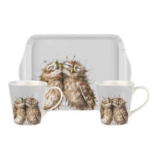 Royal Worcester Wrendale (Owl 0.18L Mug, 21 By 14cm Tray)