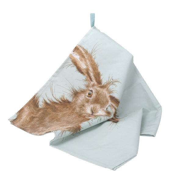 Royal Worcester Wrendale Designs Hare Tea Towel 45cm by 74cm
