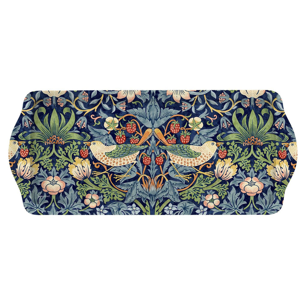 Pimpernel Strawberry Thief Blue Sandwich Tray 38.5cm by 16.5cm