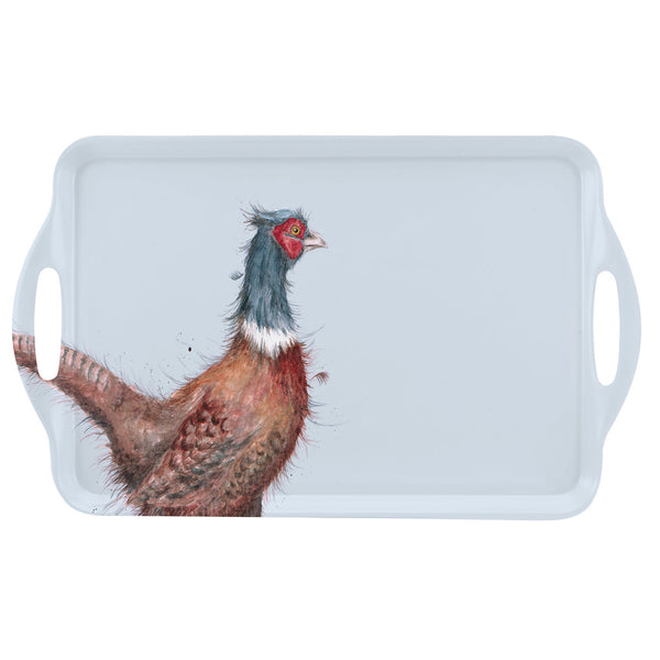 Royal Worcester Wrendale Designs Pheasant Large Handled Tray 48cm by 29.5cm