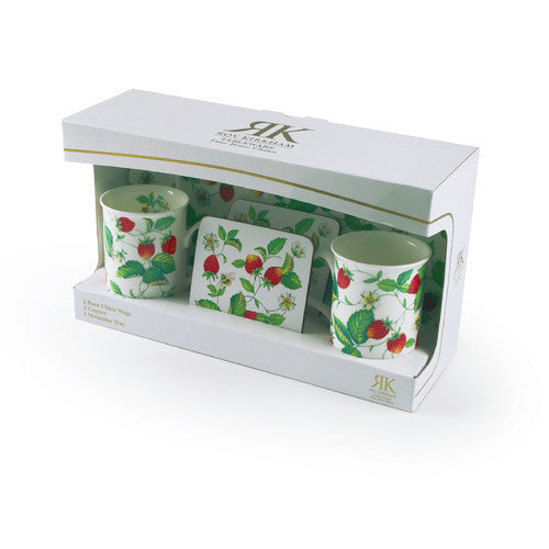Roy Kirkham Alpine Strawberry Mug, Coaster and Tray Set